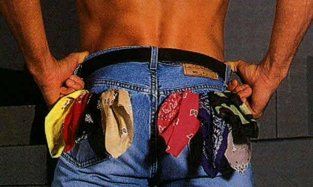 Pic of bandannas in jeans